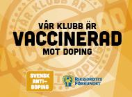 Vår klubb är vaccinerad mot doping-puff